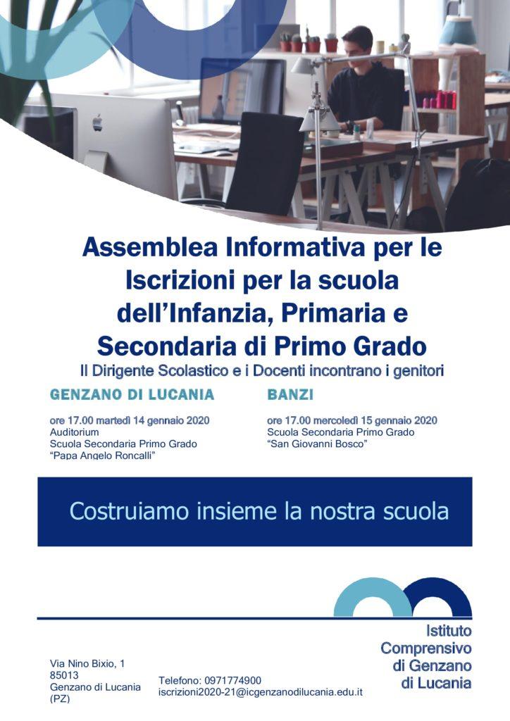Assemblea Informativa per le Iscrizioni per la scuola dell'Infanzia, Primaria e Secondaria di Primo Grado
