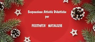 Sospensione delle attività didattiche_Festività Natalizie