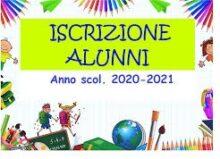 Iscrizioni alle Scuole dell'Infanzia, Primaria e Secondaria di primo grado per l'a. s. 2021/2022.