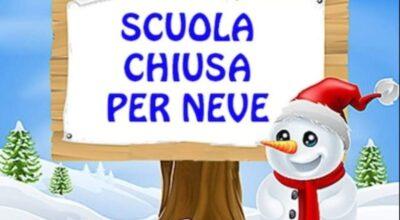 Lunedì 15 Febbraio 2021 le Scuole di ogni ordine e grado di Genzano e Banzi  resteranno chiuse causa neve